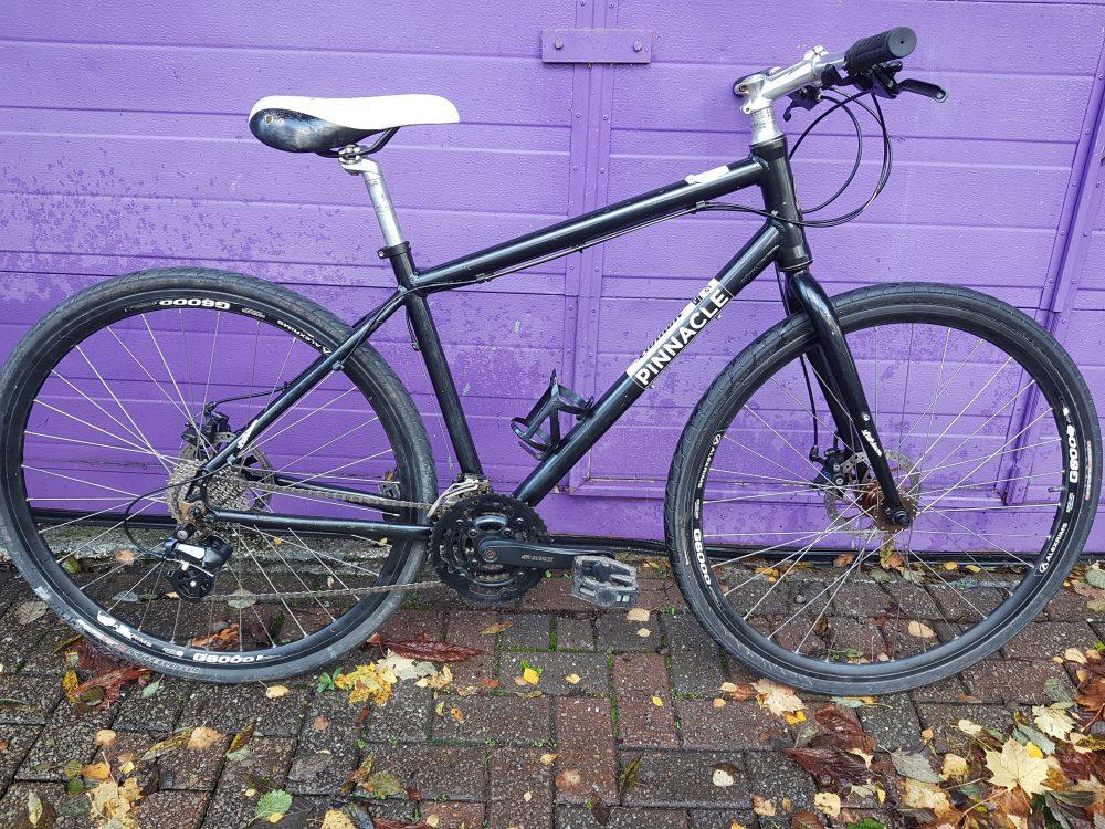 Black Pinnacle Lithium Hybrid Ladies Bicycle